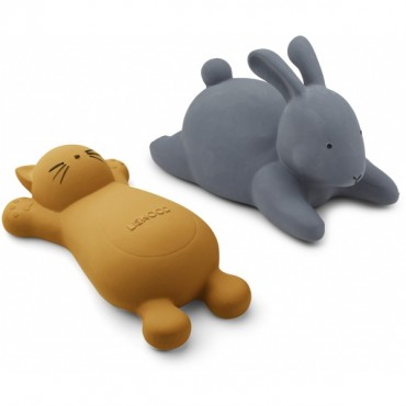 Set de 2 jouets de bain Vikky - Cat moutarde