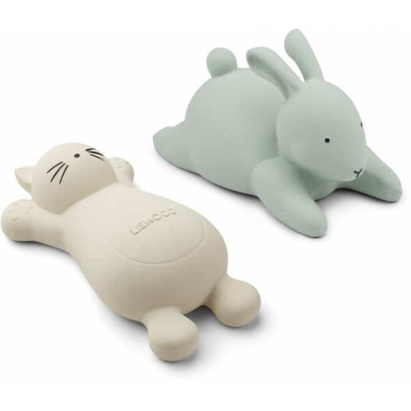 Set de 2 jouets de bain Vikky - Cat crème