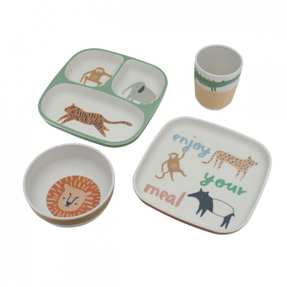 Set de vaisselle - Wildlife (eucalyptus blue)