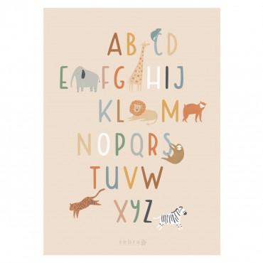 Poster Alphabet - Wildlife (50x70 cm)