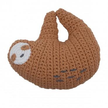 Hochet en crochet - Lacey le paresseux