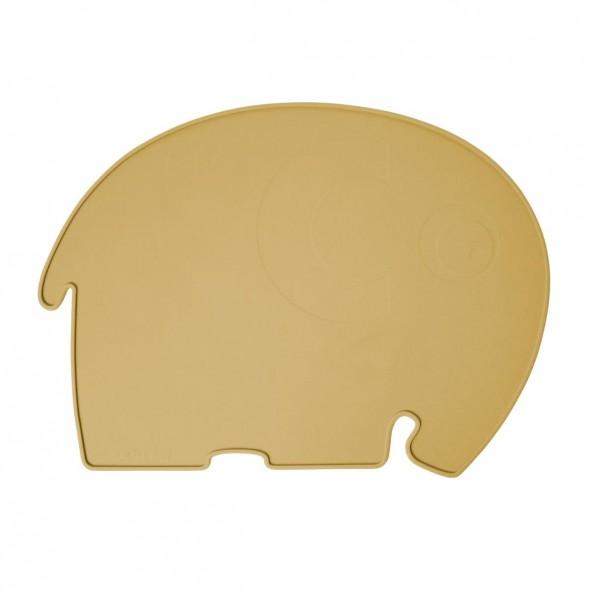 Set de table en silicone - Fanto l'éléphant (jaune savane)