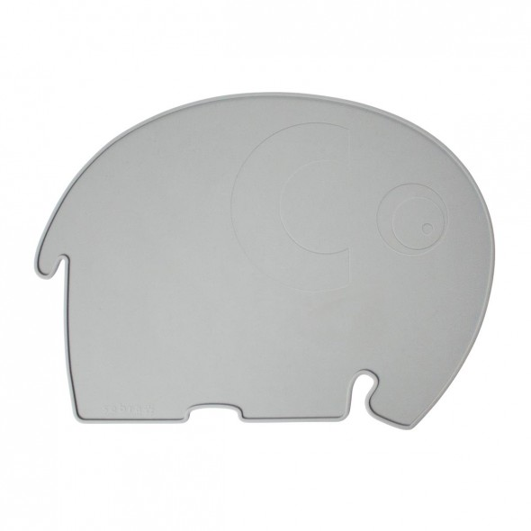 Set de table en silicone - Fanto l'éléphant (gris)