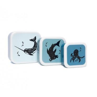 Set de 3 lunch box - Sea animals