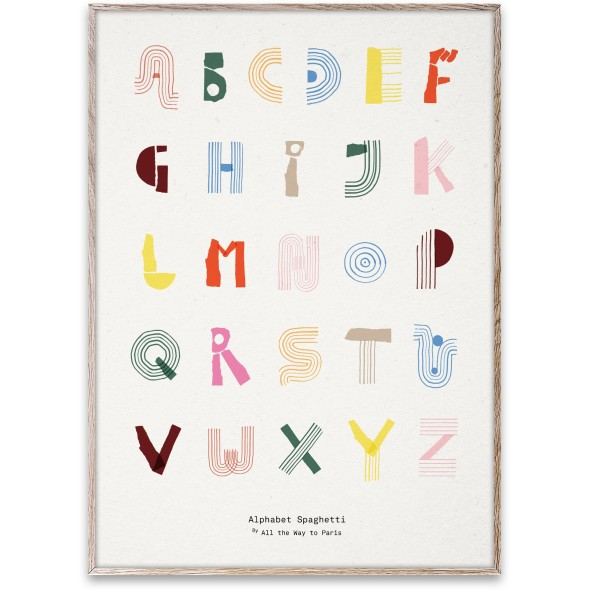 Poster Alphabet Spaghetti  (50x70 cm)