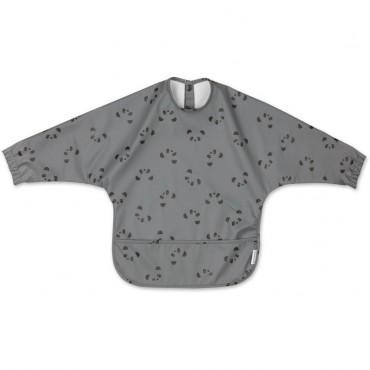 Bavoir à manches longues Merle - Panda (stone grey)