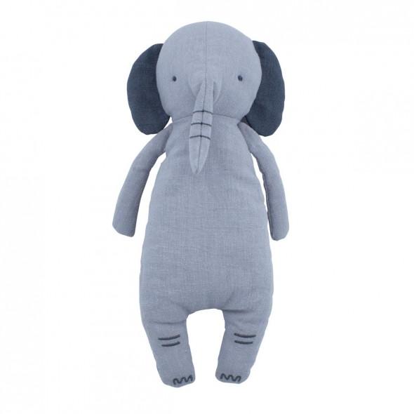 Peluche en lin, Finley l'éléphant