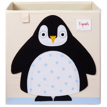Cube de rangement Pingouin