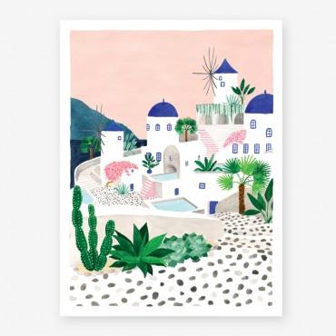 Affiche - Santorini
