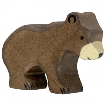 Animal en bois - Petit Ours brun