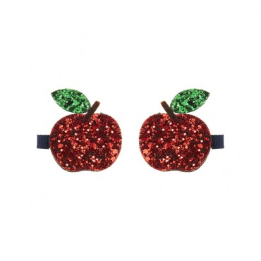 2 barrettes - Pommes à paillettes