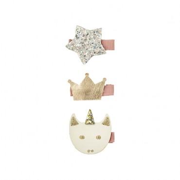 3 barrettes pinces - Licorne magique
