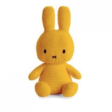 Peluche Miffy - Velours côtelé moutarde (33 cm)
