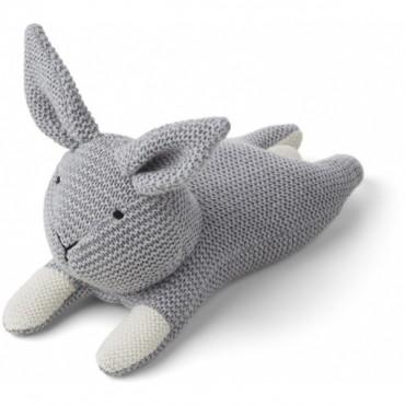 Peluche tricotée - Lapin (gris)