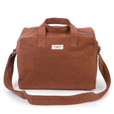 City bag SAUVAL en coton recyclé - Brown jasper