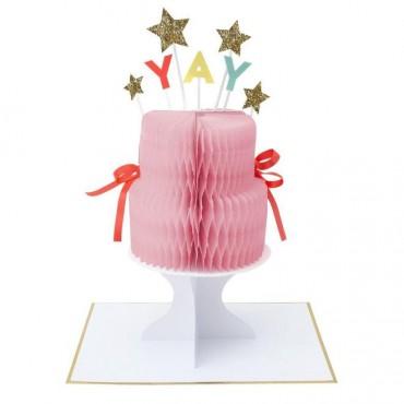 Carte anniversaire - Gâteau Yay à déplier