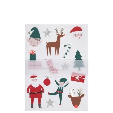 10 feuilles de stickers - Icones de Noël