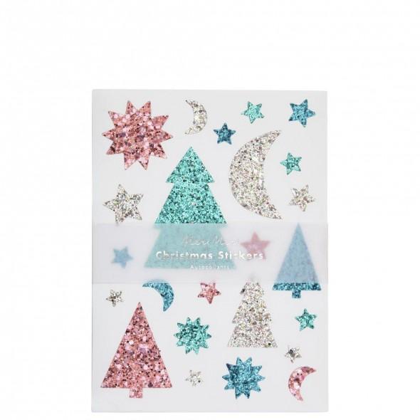 10 feuilles de stickers - Sapins de Noël