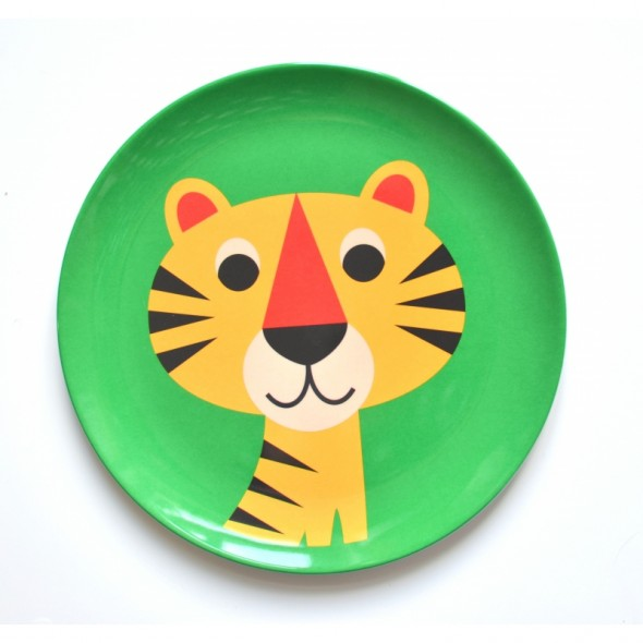 Assiette par Ingela P. Arrhenius - Tigre