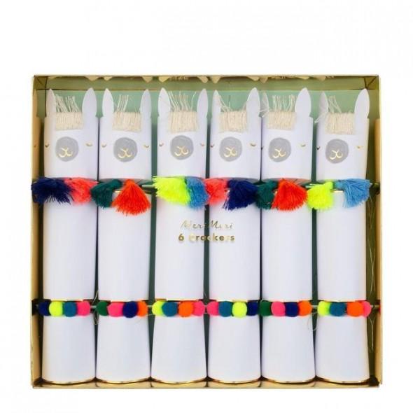 Lot de 6 crackers - Lamas