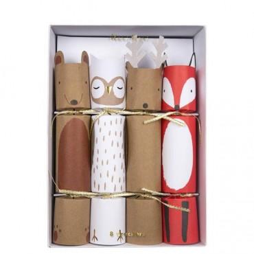 Lot de 6 crackers - Woodland