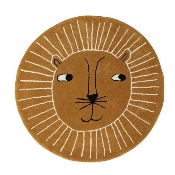 Tapis rond - Lion
