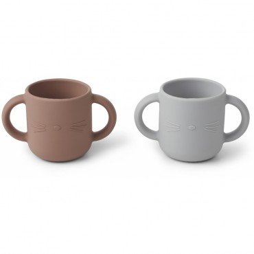 Set de 2 tasses en silicone Gene - Cat (dumbo grey)