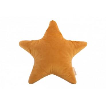 Coussin étoile Aristote en velours - Farniente yellow