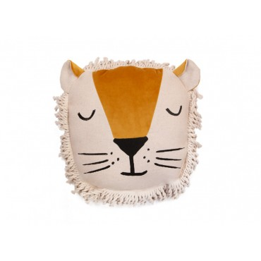 Coussin en velours Lion - Farniente yellow
