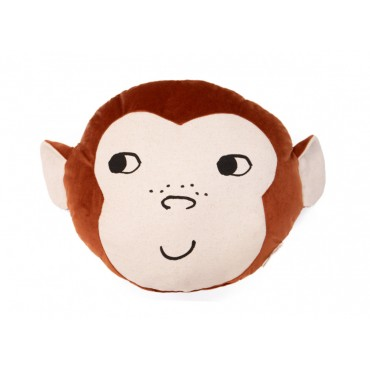 Coussin en velours Monkey - Wild brown