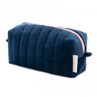 Trousse de toilette en velours Savanna - Night blue