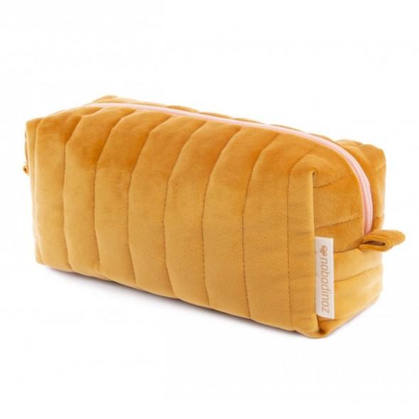 Trousse de toilette en velours Savanna - Farniente yellow