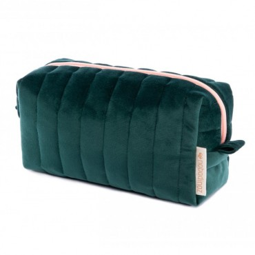 Trousse de toilette en velours Savanna - Jungle green