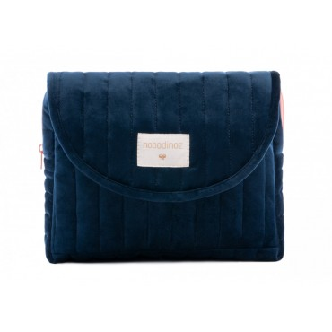 Trousse de maternité en velours Savanna - Night blue