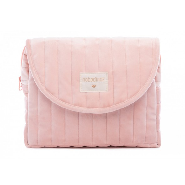 Trousse de maternité en velours Savanna - Bloom pink