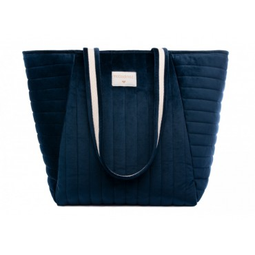 Sac de maternité en velours Savanna - Night blue