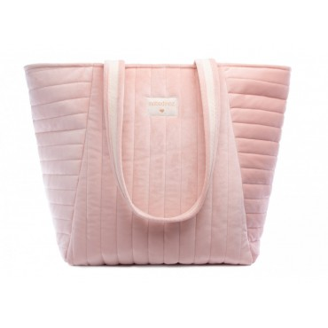 Sac de maternité en velours Savanna - Bloom pink