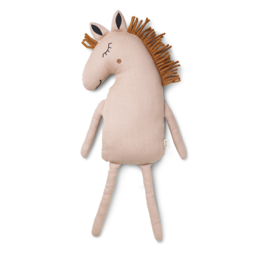 Coussin Safari - Horse (dusty rose)