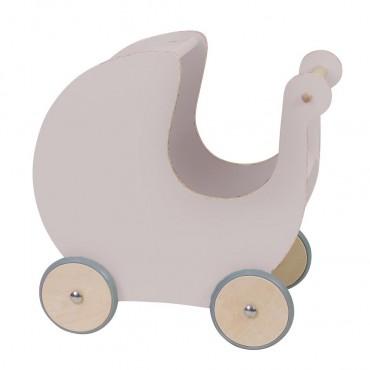 Landau pour poupée en bois - Dusty pink