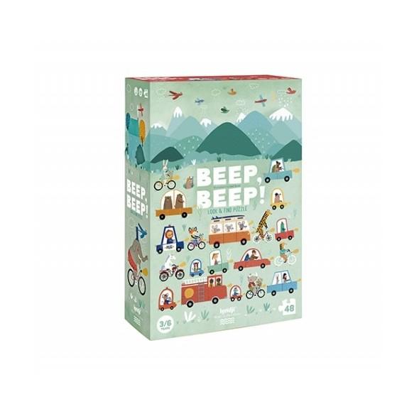 Puzzle Beep Beep (48 pièces)