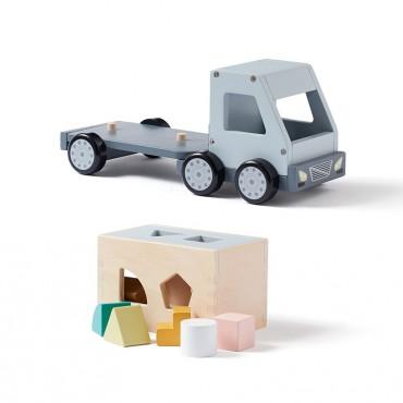 Camion à formes en bois