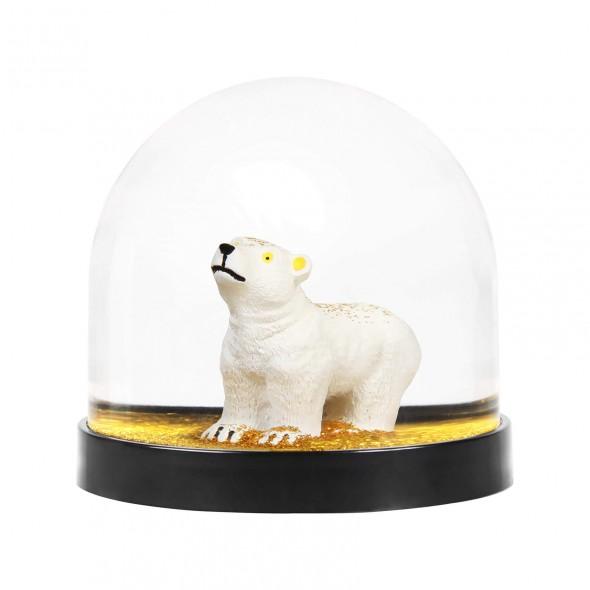 Boule à neige - Ours polaire doré