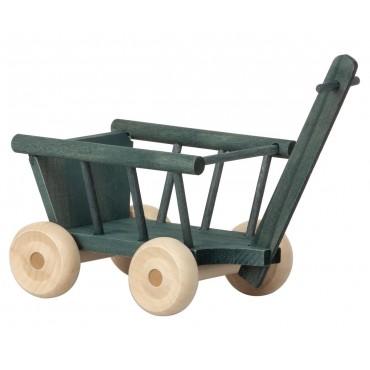 Petit wagon - Bleu pétrole (micro)