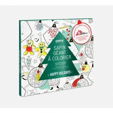 Poster géant à colorier - Happy Holidays (OMY x Médecins sans frontières)