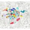 Poster géant à colorier - Kids Life