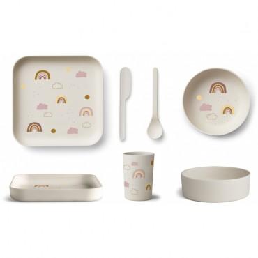 Set de vaisselle en bambou - Aiko (rainbow)