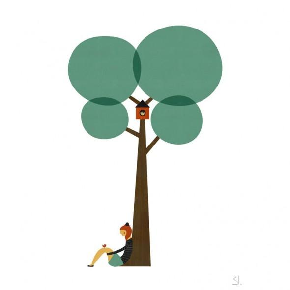 Affiche Under The Tree - Elle