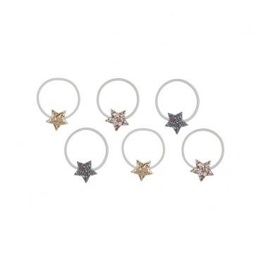 6 élastiques Etoiles - Glitter