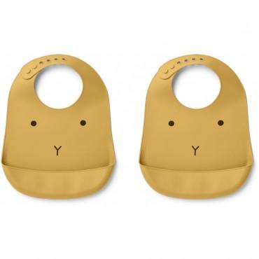 Bavoir en silicone Tilda - Rabbit (yellow mellow)
