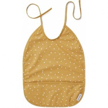 Bavoir plastifié Lai - Confetti yellow mellow